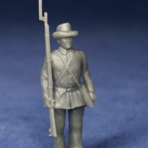 Confederate soldier at attention