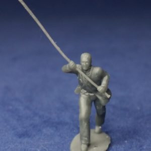 Soldier colorbearer bare head advancing