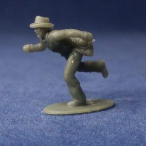 Soldier running fast in hat